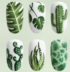 Opting for bright colours or intricate nail art isn't a must anymore. This year, nude nail designs are becoming a trend. Here are some nude nail designs. Winter Nails, Spring Nails, Spring Shoes, Winter Shoes, Succulent Nails, Super Nails, Green Nails, Green Nail Art, Floral Nail Art