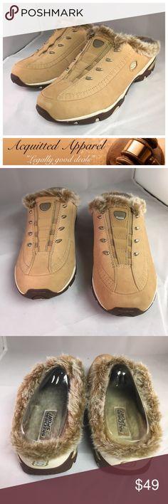 Skechers Premier Fur Lined Mule Sneakers Brand new with tags. Skechers fur lined mule clog sneakers. Leather uppers. Fur lined. Skechers Shoes Mules & Clogs