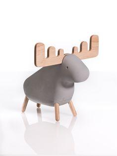 Concrete Animals Moose Gray with Ash i høj kvalitet med unikt design. Hurtig leveringstid. 14 dages fuld returret. På lager. Fri fragt ved køb over 499,-