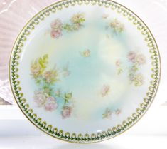 Antiques Confident Rs Prussia Bavaria Haviland Rosenthal Roses Cabinet Plate Heavy Gold Hand Paint Bowls