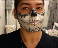 Mens sugar skull face paint