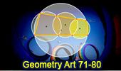 Geometry art 71-80. Cyclic Quadrilateral, Intersecting Circles, Area, Inradius, Incircle, Common Chord.