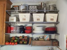 Shelving from The Container Store.