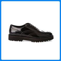 c48437d1f5193 Hogan Women s Black Leather Lace-Up Shoes ( Partner Link)