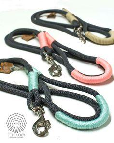 Rope dog leash. Chic Charcoal Gray climbing by TopologyHandmade