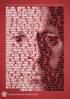 Manchester United en Twitter: Ryan Giggs: The team-mates. All 150 of them. #giggslegend http://t.co/9ieeubHv5T