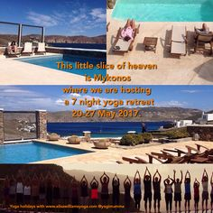 Spring is in the air! Isn't it time you booked a holiday? Our 7 night #yoga #retreat in #Mykonos 20-27 May bookable via www.elisawilliamsyoga.com/yoga- in-mykonos