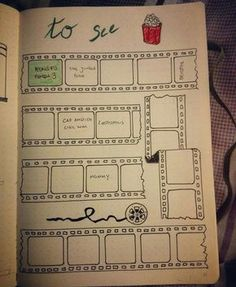 Movies to watch - bullet journal