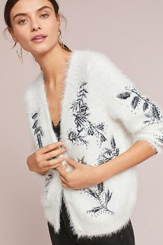 Slide View: 1: Embroidered Cozy Cardigan
