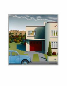 Morrie Thou by Hamish Allan - matted mini-print available from Image Vault Ltd Christchurch New Zealand, New Zealand Landscape, Vaulting, Lampshades, Homeland, Sheds, Kiwi, Wall Decals, Art For Kids
