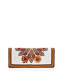 Beaded Foldover Mini Clutch #toryburch