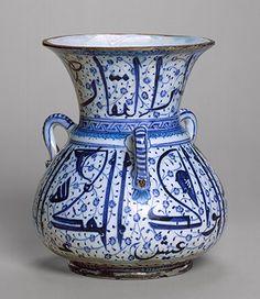 Mosque lamp, first quarter of 16th century; Ottoman  Anatolia (Iznik)