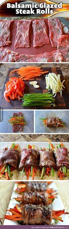 Epic steak rolls. Your move, vegetarians