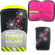 bfc7cd8bd08 Family Passport Holder RFID Blocking ID Wallet Compact Travel Case Travelon  New * You can get