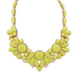 European And American Fashion Hit Color Exquisite Bib Necklace Flower