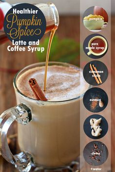 Healthier Homemade Pumpkin Spice Coffee Syrup - Make your own Pumpkin Spice Lattes and flavored coffee with this healthier DIY version made with pure, whole ingredients and no cane sugar. From @kitchentreaty