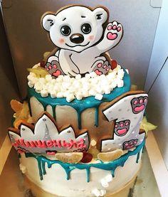 דובי הפתעה על עוגה לגיל שנה