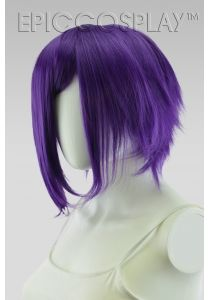 Aphrodite Royal Purple Long Bang Layered Short Wig