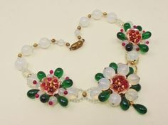 Louis Rousselet Camelia Necklace