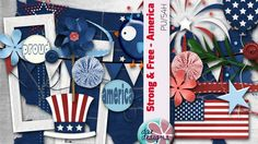 Strong & Free America by Dae Designs