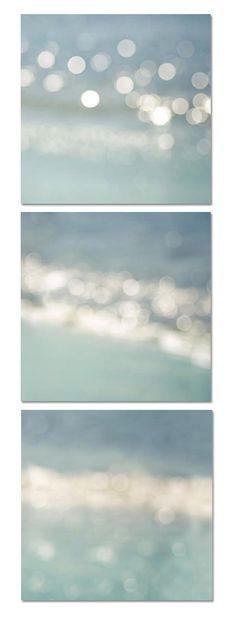 Abstract beach light photography       set 8x8 ocean fine art Photography nautical decor vintage inspired beach ocean photography pastel bokeh clickety