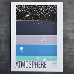 Brainstorm went way, way beyond Earth with this particular entry in their Earth Science Collection. The Space screenprint moves from Geospace to Interplanetary, Interstellar, and all the way to Interg