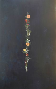 britt hermann - acrylic on masonite - floral band