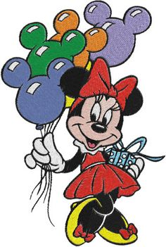 Minnie Mouse Machine Embroidery Design -- 0027