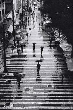 Rain in black and white por Percio Pucci