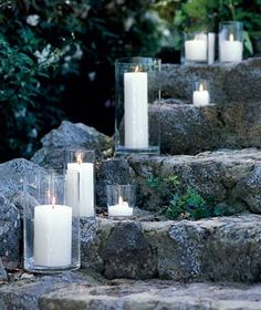 candles on the walkway or path to your door, love this for ANY party.