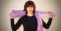 When it gets really cold, there's nothing like a warm scarf. This girl explains at least 20 different ways to wear a scarf, and each one is very different and clever. This woman is a scarf genius.
