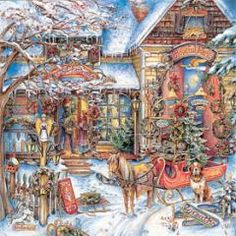 pictures of country christmas scenes | Country Christmas Advent Calendar