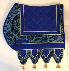 Jousting saddle pad - Medieval horse trappings caparison