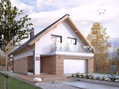 DOM.PL™ - Projekt domu MT Amarylis 5 paliwo stałe CE - DOM MS4-01 - gotowy koszt budowy Beautiful House Plans, Beautiful Homes, House Front Design, Passive House, Facade Architecture, House Layouts, Home Fashion, Home Interior Design, My House
