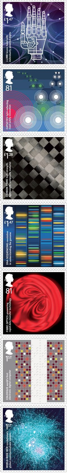 Royal Mail launches inventors' stamps  GBH has designed a set of special stamps for the Royal Mail, which depicts eight key British inventions created in the last 100 years.  Read More: http://www.designweek.co.uk/news/royal-mail-launches-inventors-stamps/3039834.article