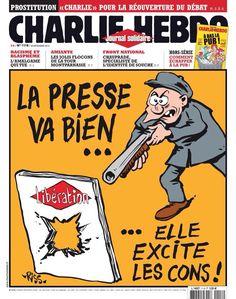 Charlie Hebdo au lendemain de la fusillade à Libé en novembre 2013