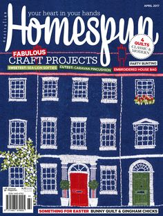 Australian Homespun magazine April 2017 issue on sale now! Available from craft shops and newsagents Australia wide, or digitally through Zinio - www,.zinio.com
