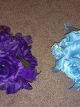 20 Purple and Blue Pomander Flower Balls