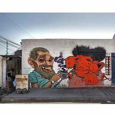 "tschelovek_graffiti: ""@apitatan #Onesto нарисовали ""El cafecito"" (""Coffee…"