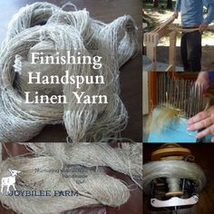How to spin linen thread and the special handling techniques for finishing and weaving with linen.