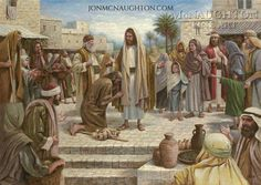 Healing In His Wings Lithograph Print by Artist Jon McNaughton Bible Pictures, Jesus Pictures, Miracles Jesus Performed, Jon Mcnaughton, Jesus Heals, Lds Art, Litho Print, Biblical Art, Religious Art