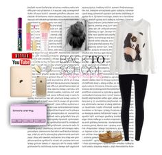 """back to school lazy day outfit"" by queen-maddz-16 ❤ liked on Polyvore featuring Oris, Slippers International, Maybelline, Revlon, Frends and Rifle Paper Co"