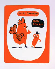 Hello Chicken (Red) - Simone Lia