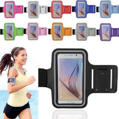Sports Gym Armband Holder Case Cover for Samsung Galaxy S5 S6 Edge S7