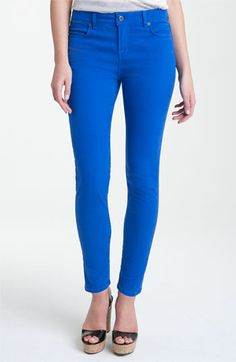 Blue Essence Skinny Twill Ankle Jeans (Nordstrom Exclusive) Nordstrom.com
