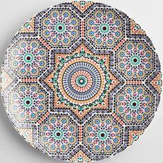 Fez Moroccan Tile Dinner Plates Set of 4: Metallic by World Market