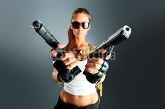Secret Agent- don't mess with the chick!