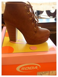 SODA Lace-Up Booties #bluesandshoes #carlsbad #fall #2014 #shoes #trends #fashion #style