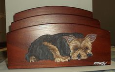 Yorkshire Terrier Yorkie Dog Hand Painted by daniellesoriginals, $20.00