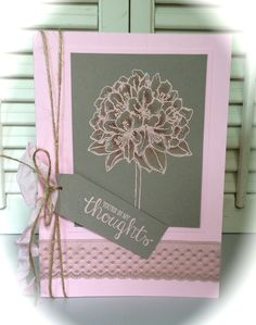 "You're in my thoughts - ""Best Thoughts"" stamp set Stampin' Up!"